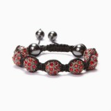 Light Siam Crystal Shamballa Bracelet