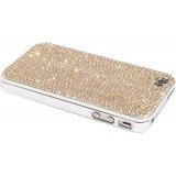 iPhone 4 Case Made w/ Light Peach Crystals