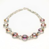 Florence Glass Necklace - Crystal Vitrail Light